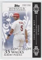 Albert Pujols (2005 NL MVP - 97 Walks) /150