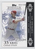 Chase Utley (2007 All-Star - 75 Extra Base Hits) /150