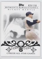 Mickey Mantle 20 Career All-Star Game Selections /150
