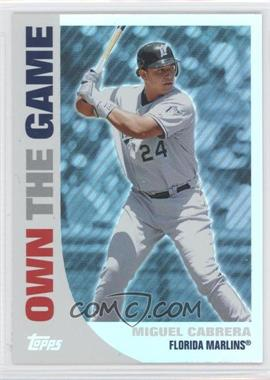 2008 Topps Own the Game #OTG10 - Miguel Cabrera