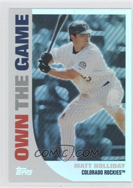 2008 Topps Own the Game #OTG13 - Matt Holliday