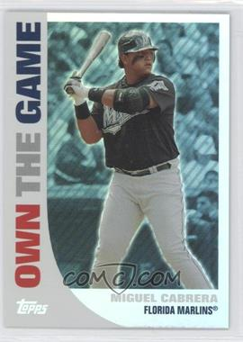 2008 Topps Own the Game #OTG18 - Miguel Cabrera