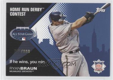2008 Topps Redemption Home Run Derby Contest #RYBR - Ryan Braun /999