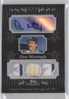 2008 Topps Sterling Career Stats Autograph Relics Triple #3CSA-103 - Don Mattingly /10