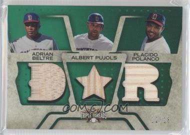 2008 Topps Triple Threads - Relic Combos - Emerald #TTRC-100 - Adrian Beltre, Albert Pujols, Placido Polanco /18