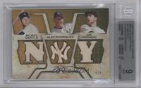 Mickey Mantle, Alex Rodriguez, Joe DiMaggio /9 [BGS 9]