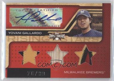 2008 Topps Triple Threads #190 - Yovani Gallardo /99