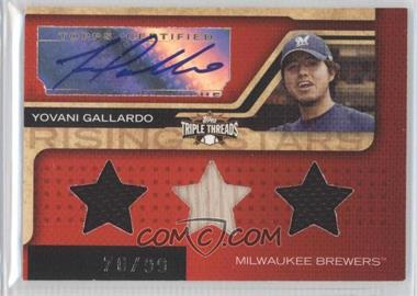 2008 Topps Triple Threads #190 - Yovani Gallardo /99