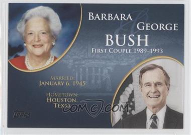 2008 Topps Updates & Highlights - First Couples #FC-39 - Barbara and George Bush