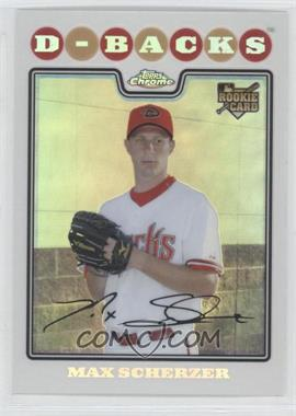 2008 Topps Updates & Highlights Chrome #CHR40 - Max Scherzer