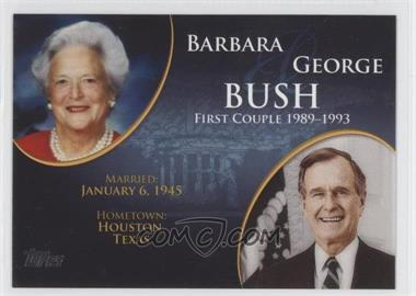 2008 Topps Updates & Highlights First Couples #FC-39 - Barbara and George Bush
