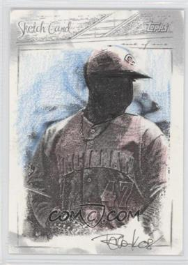 2008 Topps Updates & Highlights Sketch Cards #N/A - Johnny Cueto /1