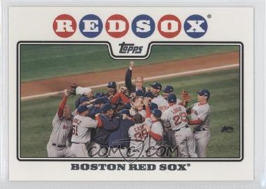 2008 Topps #234.2 - Boston Red Sox Team (Rudy Guiliani)