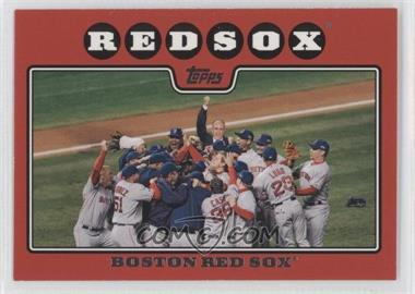 2008 Topps #234.3 - Boston Red Sox Team (Rudy Guiliani Red Border)