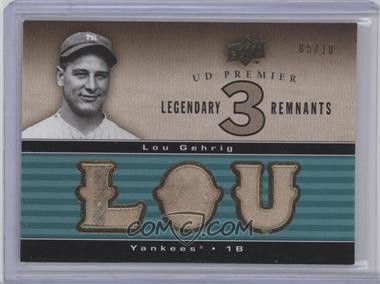 2008 UD Premier [???] #LR3-3 - Lou Gehrig /10