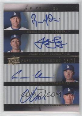 2008 UD Premier [???] #PQ-MLEH - Russell Martin, James Loney, Andre Ethier, Chin-Lung Hu