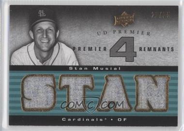 2008 UD Premier Premier 4 Remnants Teal #PR4-SM - Stan Musial /25