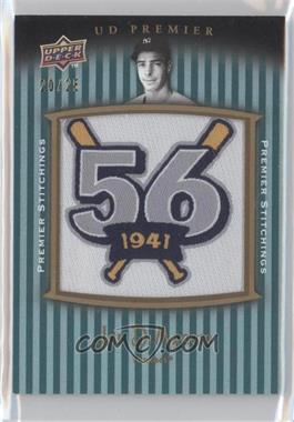 2008 UD Premier Premier Stitchings Parallel 1 #PSTI-JD - Joe DiMaggio /25