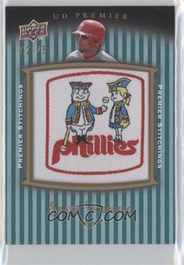 2008 UD Premier Premier Stitchings Parallel 1 #PSTI-SV - Shane Victorino /25