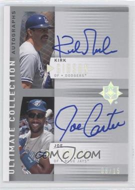 2008 Ultimate Collection - Double Autographs #ULT-GC - Kirk Gibson, Joe Carter /15