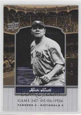 2008 Upper Deck - Multi-Product Insert Yankee Stadium Legacy #YSL247 - Babe Ruth