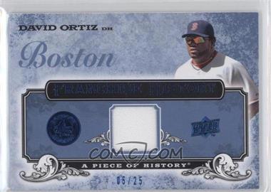 2008 Upper Deck A Piece of History - Franchise History - Blue Jerseys [Memorabilia] #FH-10 - David Ortiz /25