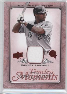 2008 Upper Deck A Piece of History - Timeless Moments - Red Jerseys [Memorabilia] #TM-22 - Hanley Ramirez