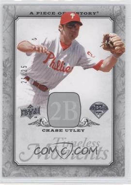 2008 Upper Deck A Piece of History - Timeless Moments - Silver #TM-39 - Chase Utley /25