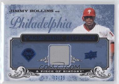 2008 Upper Deck A Piece of History Franchise History Blue Jerseys [Memorabilia] #FH-40 - Jimmy Rollins /25