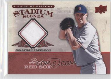 2008 Upper Deck A Piece of History Stadium Scenes Red Jerseys [Memorabilia] #SS10 - Jonathan Papelbon