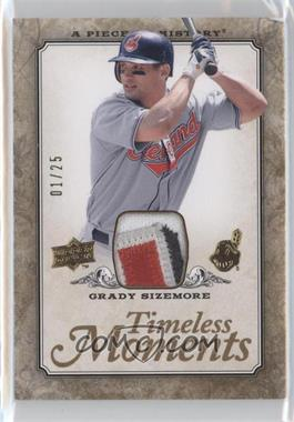 2008 Upper Deck A Piece of History Timeless Moments Gold Jerseys Patch [Memorabilia] #TM-16 - Grady Sizemore /25