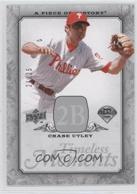 2008 Upper Deck A Piece of History Timeless Moments Silver #TM-39 - Chase Utley /25