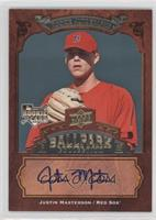 Rookie Autographs - Justin Masterson