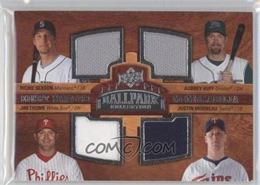 2008 Upper Deck Ballpark Collection Eight Swatch Memorabilia #SHTMOKGT - Richie Sexson, Aubrey Huff, Jim Thome, Justin Morneau, David Ortiz, Casey Kotchman, Jason Giambi, Frank Thomas