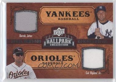 2008 Upper Deck Ballpark Collection #192 - Dual Swatch Memorabilia - Derek Jeter, Cal Ripken Jr.