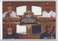 Quad Swatch Memorabilia - Albert Pujols, Ben Sheets, Prince Fielder, Mark Mulder