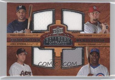 2008 Upper Deck Ballpark Collection #NoN - Prince Fielder, Lance Berkman, Alfonso Soriano, Albert Pujols, Carlos Lee, Derrek Lee, Ken Griffey Jr., Chris Duncan