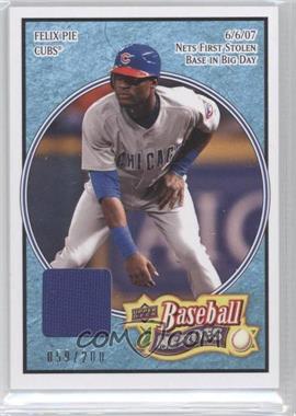 2008 Upper Deck Baseball Heroes - [Base] - Light Blue Memorabilia #142 - Felix Pie /200
