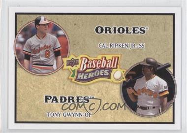 2008 Upper Deck Baseball Heroes - [Base] #180 - Cal Ripken Jr., Tony Gwynn