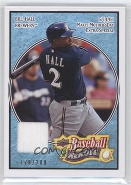 2008 Upper Deck Baseball Heroes Light Blue Memorabilia #129 - Bill Hall /200