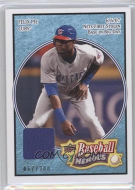 2008 Upper Deck Baseball Heroes Light Blue Memorabilia #142 - Felix Pie /200