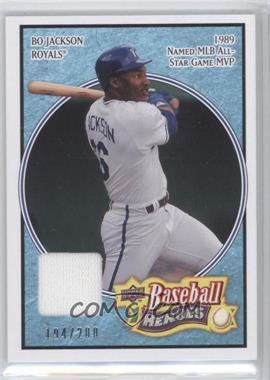 2008 Upper Deck Baseball Heroes Light Blue Memorabilia #81 - Bo Jackson /200