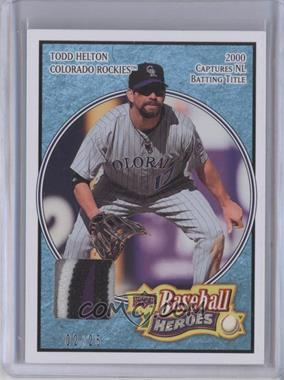 2008 Upper Deck Baseball Heroes Light Blue Patch #59 - Todd Helton /25