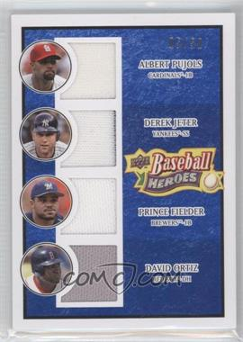 2008 Upper Deck Baseball Heroes Navy Blue Memorabilia #200 - Albert Pujols, Derek Jeter, Prince Fielder, David Ortiz /50