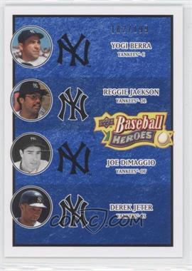 2008 Upper Deck Baseball Heroes Navy Blue #197 - Yogi Berra, Reggie Jackson, Joe DiMaggio, Derek Jeter /199