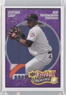 2008 Upper Deck Baseball Heroes Purple Patch #105 - Jose Reyes /5