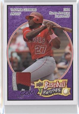 2008 Upper Deck Baseball Heroes Purple Patch #82 - Vladimir Guerrero /5