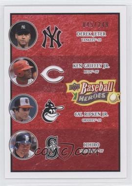 2008 Upper Deck Baseball Heroes Red #196 - Derek Jeter, Cal Ripken Jr., Ken Griffey Jr., Ichiro Suzuki /249