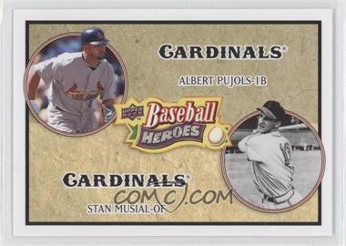 2008 Upper Deck Baseball Heroes #178 - Albert Pujols, Stan Musial