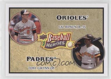 2008 Upper Deck Baseball Heroes #180 - Cal Ripken Jr., Tony Gwynn